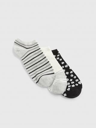 Farebné dámske ponožky GAP 3-Pack dámské sivá ONE SIZE