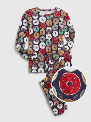 Farebné dievčenské pyžamo GAP hnedá 110