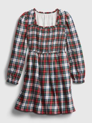 Farebné dievčenské šaty GAP červená 158