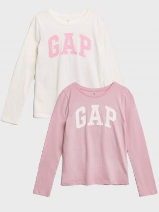 Farebné dievčenské tričko GAP Logo ružová 116-128