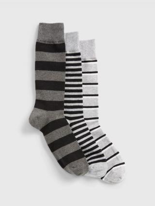 Farebné pánske ponožky GAP 3-Pack pánské čierna ONE SIZE