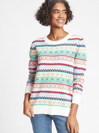 Farebný dámsky sveter GAP dámské biela XXS