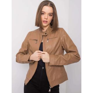 Faux leather camel jacket dámské Neurčeno S