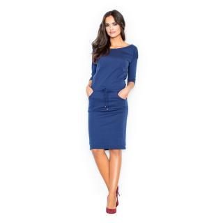 Figl Womans Dress M203 Navy Blue dámské L