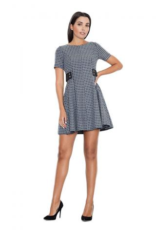 Figl Womans Dress M444 Jacquard dámské wzorzysty L