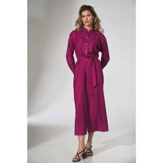 Figl Womans Dress M740 Fuchsia dámské Pink S