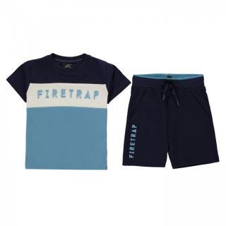 Firetrap Short Sleeve T-Shirt Set Infant Boys pánské Other 2-3 Y