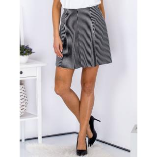 Flared black skirt with stripes dámské Neurčeno 40