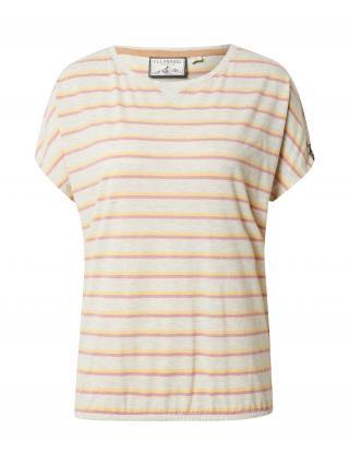 Fli Papigu Tričko Take Straight Shots  biela melírovaná / oranžová / ružová dámské S