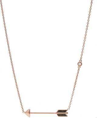 Fossil Bronzový náhrdelník sa šípom JF02452791