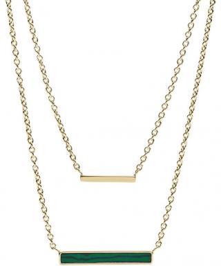 Fossil Dvojitý zlatý náhrdelník JF03214710