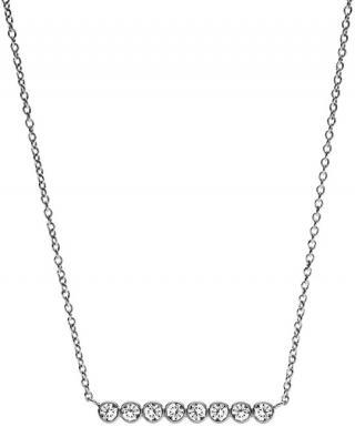 Fossil Oceľový náhrdelník s kryštálmi JF02589040