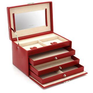 Friedrich Lederwaren Šperkovnica červená / béžová Jolie 23255-40 dámské