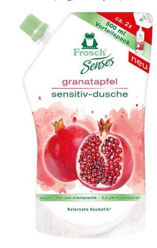 Frosch Frosch EKO Senses Sprchový gél Granátové jablko - náhradná náplň 500 ml