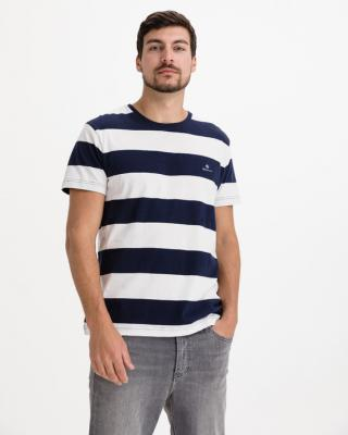 Gant Barstripe Tričko Modrá Biela pánské XXL