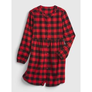 GAP Childrens Dress buff plaid shirt dámské Other XS