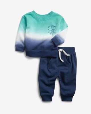 GAP Dip-Dye Tepláková súprava detská Modrá pánské 3-6 mesiacov