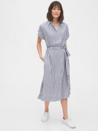 GAP modré midi košeľové šaty - XL dámské modrá XL