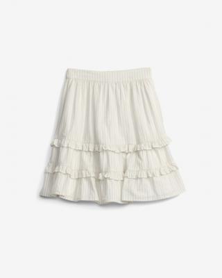 GAP MTHR Stripe Sukňa detská Biela dámské XL