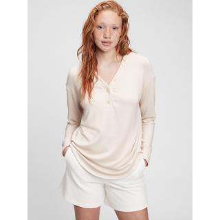 GAP T-shirt long sleeve henley dámské Other XS