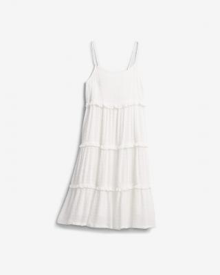 GAP Tiered Šaty detské Biela dámské M