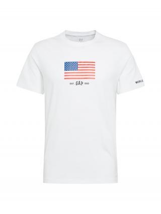GAP Tričko  biela / červená / modrá pánské XS