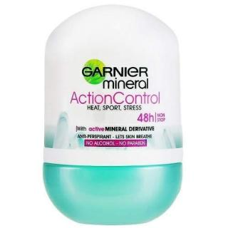 Garnier Minerálne dezodorant Action Control Roll-on 48h pre ženy 50 ml