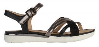 GEOX Dámske sandále D SANDAL Hiver D02GZA-0BN85 -C9247 LEAD / BLACK 38 dámské