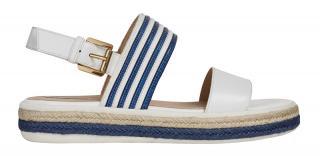 GEOX Dámske sandále D Sandal Leelu ` White / Blue D02GFE-04311-C0006 37 dámské