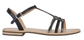 GEOX Dámske sandále D Sozy Black / Gun D022CG-01JMA-C9B1G 40 dámské