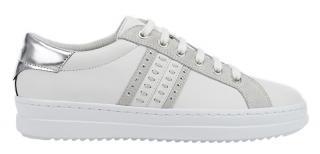 GEOX Dámske tenisky D Pontoise White / Silver D02FED-085BN-C0007 37 dámské