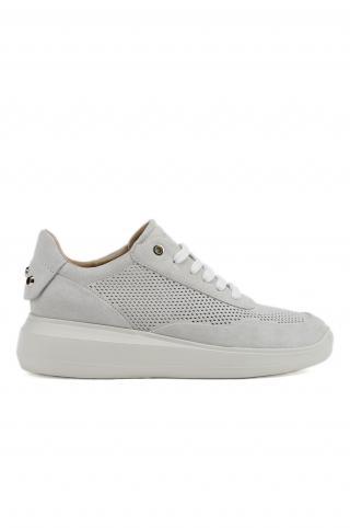 Geox - Kožená obuv dámské biela 40