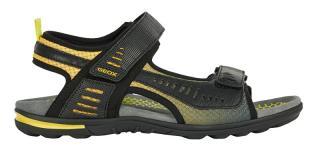 GEOX Pánske sandále U Tevere Black / Yellow U029CC-0BC14-C0054 41 pánské