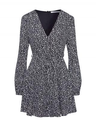 GLAMOROUS Šaty  čierna / biela dámské 40