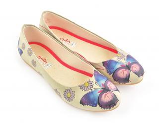 Goby balerínky Daisy and Butterfly - 36 dámské béžová 36