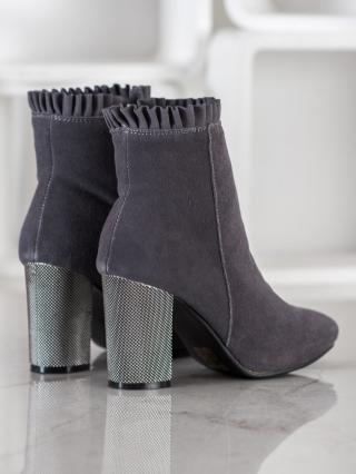 GOODIN MUFFLE BOOTIES WITH FRILL dámské shades of gray and silver 36