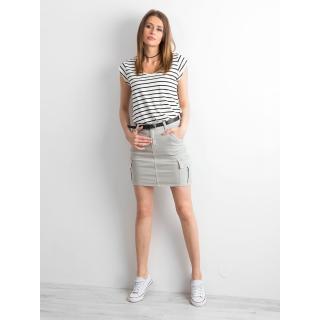Gray denim skirt with pockets dámské Neurčeno 36