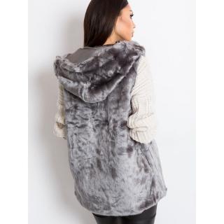 Gray faux fur vest dámské Neurčeno S