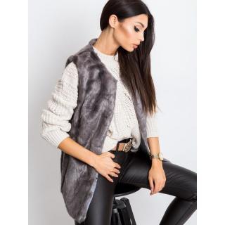 Gray fur vest dámské Neurčeno L