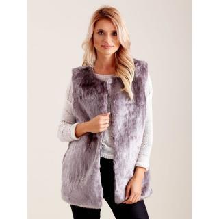 Gray fur vest dámské Neurčeno M