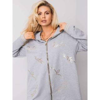 Gray melange women´s sweatshirt dámské Neurčeno One size