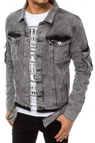 Gray men´s denim jacket TX3663 pánské Neurčeno S