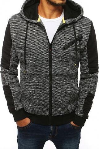 Gray mens jacket with a hood TX2882 pánské Neurčeno L