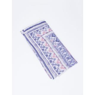 Gray scarf with Aztec pattern and flowers with fringes dámské Neurčeno One size