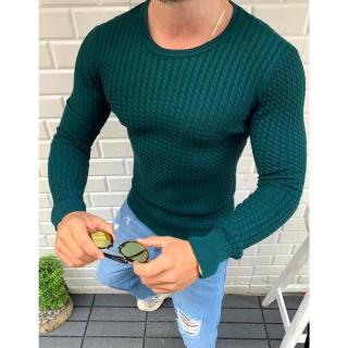 Green mens pullover sweater WX1631 pánské Neurčeno XL