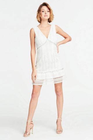 Guess biele šaty s čipkou - M dámské biela M