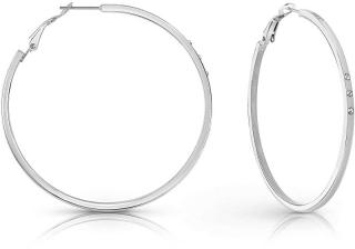 Guess Elegantné náušnice kruhy s čírymi kryštálmi Round & Round UBE78078 dámské
