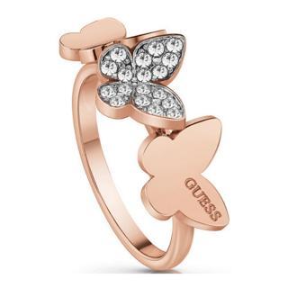 Guess Elegantný bronzový prsteň s motýľmi UBR78005 58 mm dámské