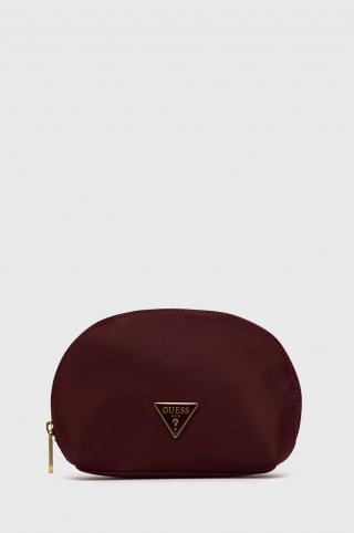 Guess - Kozmetická taška dámské burgundské ONE SIZE