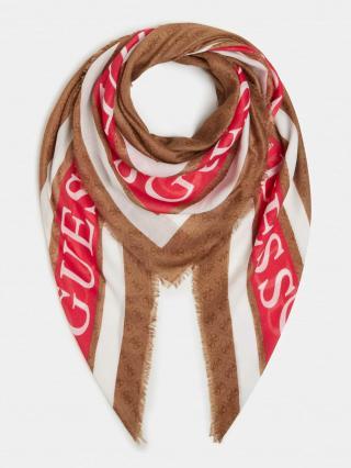 GUESS Látkové rúško  červená / hnedá / biela dámské One Size